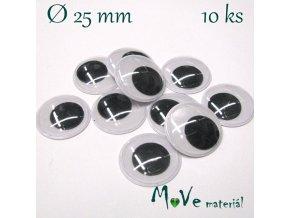 Samolepící oči 25mm, 10kusů