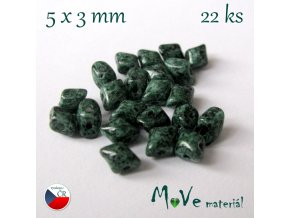 České korálky - VARIO 5x3mm, 22ks, zelené