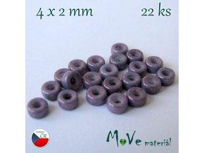 CZECH HEISHI 4x2mm/22ks, fialové