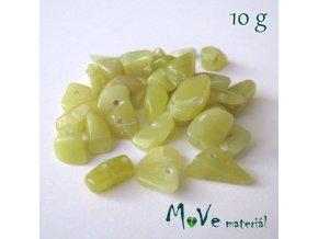 Olivín zlomky vrtané, 10g