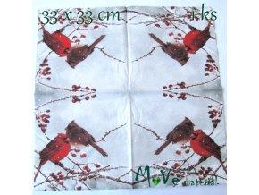 Ubrousek na decoupage 33 x 33cm 1ks, ptáček