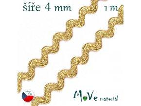Hadovka 100% kovové vlákno - 4mm, 1m, zlatá