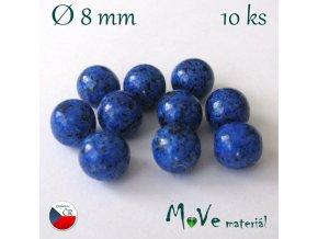 Český skleněný korálek 10kusů/modrý