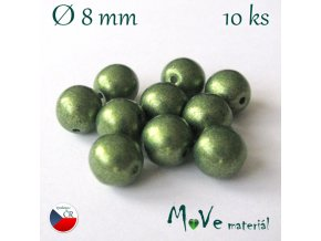 Český skleněný korálek 10kusů/zelený