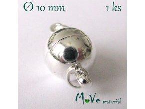 Zapínání magnetické 10mm 1ks, stříbrné
