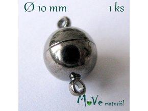 Zapínání magnetické 10mm 1ks, antracitové