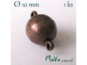 Zapínání magnetické 10mm 1ks,staroměď