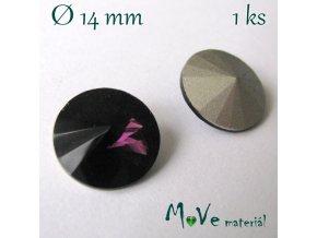 Skleněný šaton 14mm, fialový