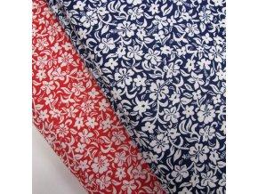 Květy -2 barvy, ŠÍŘE 140CM/1BM
