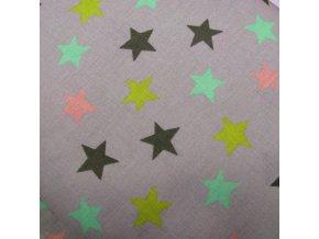 BAVLNĚNÉ PLÁTNO - hvězdy, ŠÍŘE 150CM/1BM