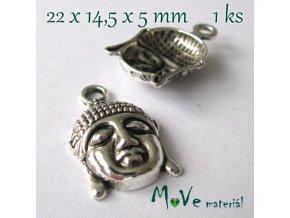 Přívěsek Budha 22x14,5mm, 1ks, starostříbro