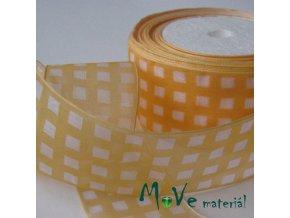 Šifónová stuha oranžovožlutá 35 mm 1m