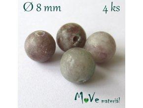 Fialový kámen - 8mm/4ks, hnědofialový