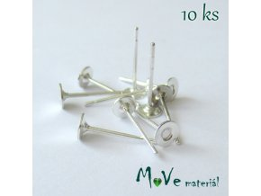 Vlepovací puzeta - 10ks (5 párů), stříbrná
