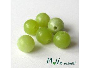 Jadeit tchajwanský - 6mm/6ks, zelený