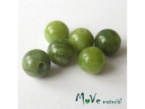 Jadeit čínský - 6mm/6ks, zelený