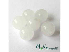 Jadeit - 6mm/6ks, bílý mléčný