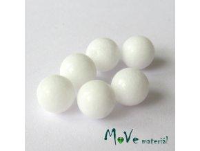 Jadeit malajský - 6mm/6ks, bílý