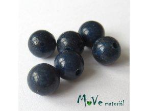 Jadeit mashan - 6mm/6ks, modrý