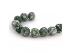 Zelený kámen, 8mm/5ks, zelenobílý