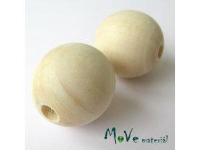 Dřevěný korálek 30mm, 1ks