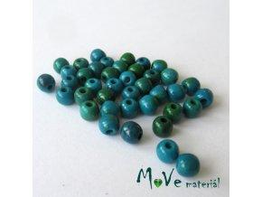 Chrysocolla - 4mm/40ks, modrozelený