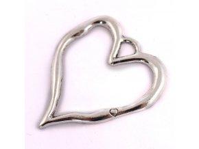 PŘÍVĚSEK srdce 1KS, stříbrný