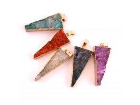 Přívěsek achát drúza - trojúhelník 1