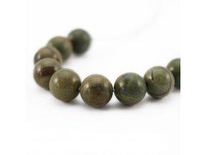 Jaspis zeleno-šedý - 8mm/4ks