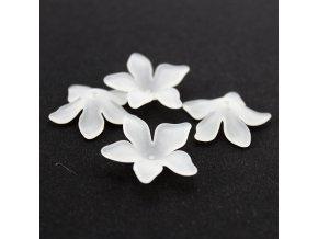 Akrylový květ 29X27X8mm - 4ks - bílý