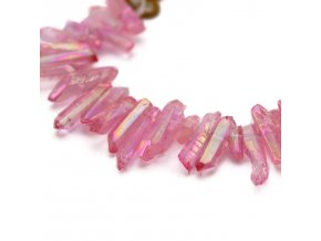 Vrtaný křišťál - 5ks - růžový