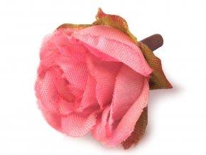 Umělý květ růže Ø25 mm - různé barvy