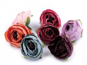 Umělý květ pryskyřník - různé barvy