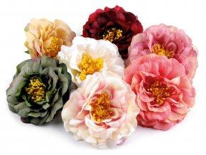 Umělý květ čajová růže Ø10 cm - různé barvy