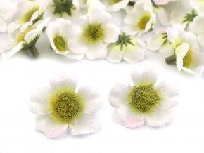 Umělý květ Ø30-35 mm - bílá - 1ks