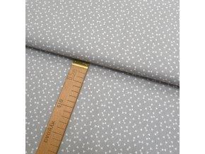 Bavlněné plátno - Mašličky, šedá - šíře 150cm/1bm