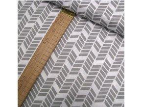 Bavlněné plátno - Geometrie, šedá - šíře 160cm/1bm