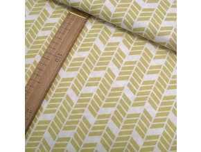 Bavlněné plátno - Geometrie, žlutá - šíře 160cm/1bm