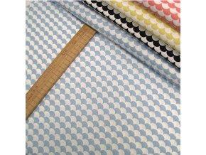 Bavlněné plátno - Tašky - šupiny, modrá - šíře 160cm/1bm