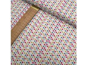 Bavlněné plátno - Trojúhelníky - šíře 160cm/1bm