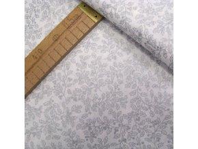 Bavlněné plátno - Cesmína stříbrotisk - šíře 140cm/1bm