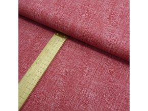 Bavlněné plátno - Tmavě červená lněná půda - šíře 150cm/1bm