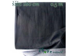 svatební tyl jemný černý 50 cm/ š280 cm
