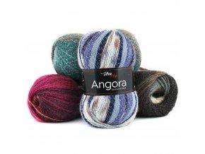 Angora luxus simli batik - vlna, mohér, akryl a metalické vlákno