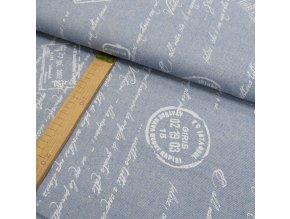 POTAHOVÉ PLÁTNO - imitace jeans, ŠÍŘE 140CM/1BM