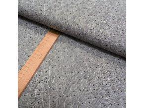 Bavlněné plátno - černá, bílá trojúhelníky - šíře 150cm/1bm