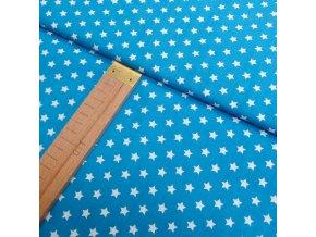 Bavlněné plátno -hvězdy tyrkysová - šíře 150cm/1bm
