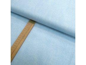 Bavlněné plátno - světle modrá lněná půda - šíře 150cm/1bm