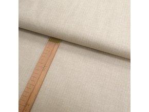 Bavlněné plátno - Béžová lněná půda - šíře 140cm/1bm