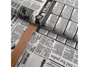 Bavlněné plátno - Noviny - šíře 140cm/1bm
